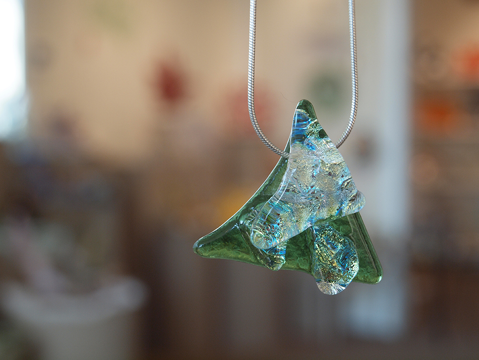 Hand Cut Fused Glass Jewelry