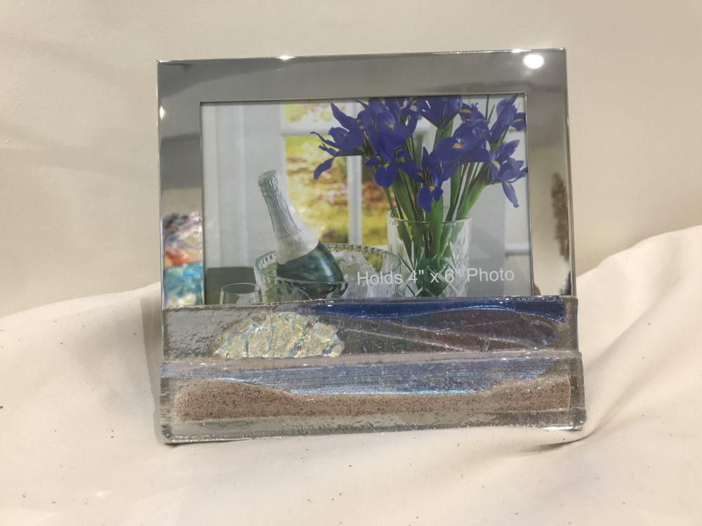Dune Sand Sunset Picture Frame with Fused Glass - Jilly\'s Gallery